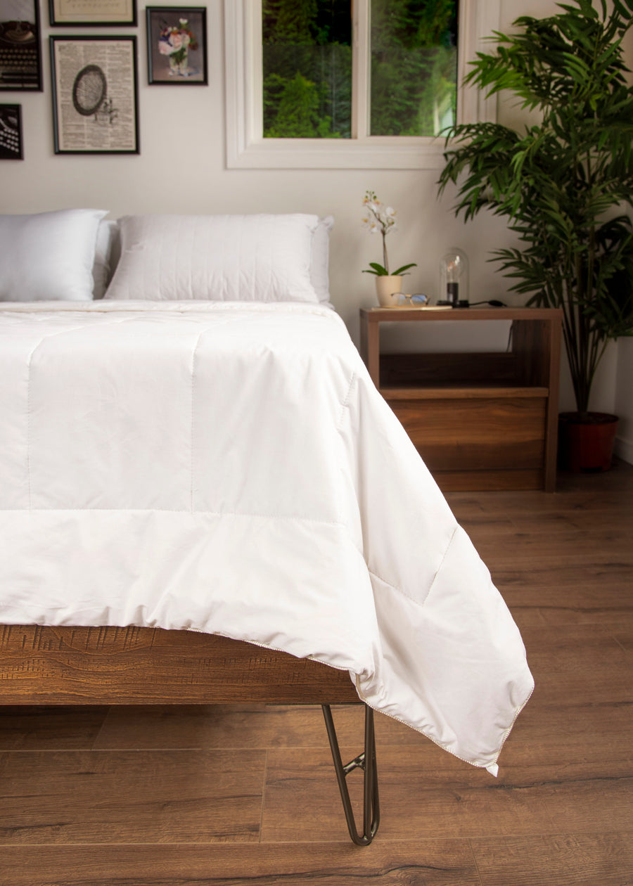 premium white silk duvet fit lifestyle
