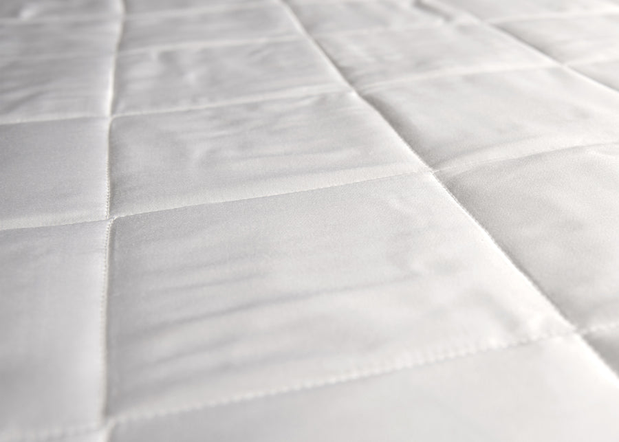Swatch texture of white bamboo mattress pad
