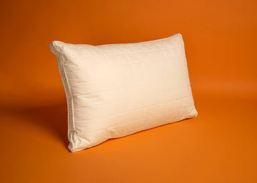 ivory gusseted wool pillow