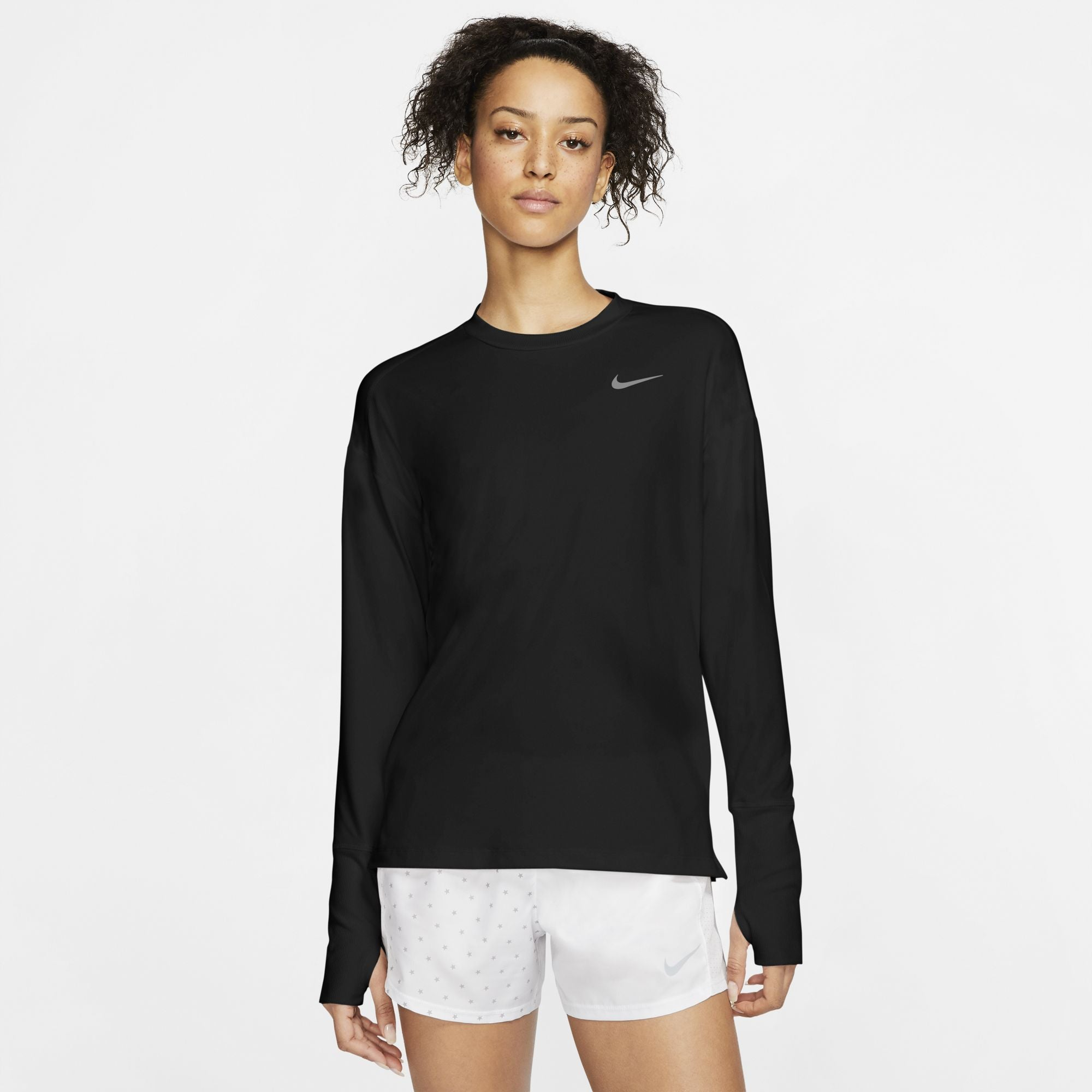 Nike Womens Element Long Sleeve Running Top - Sole Motive