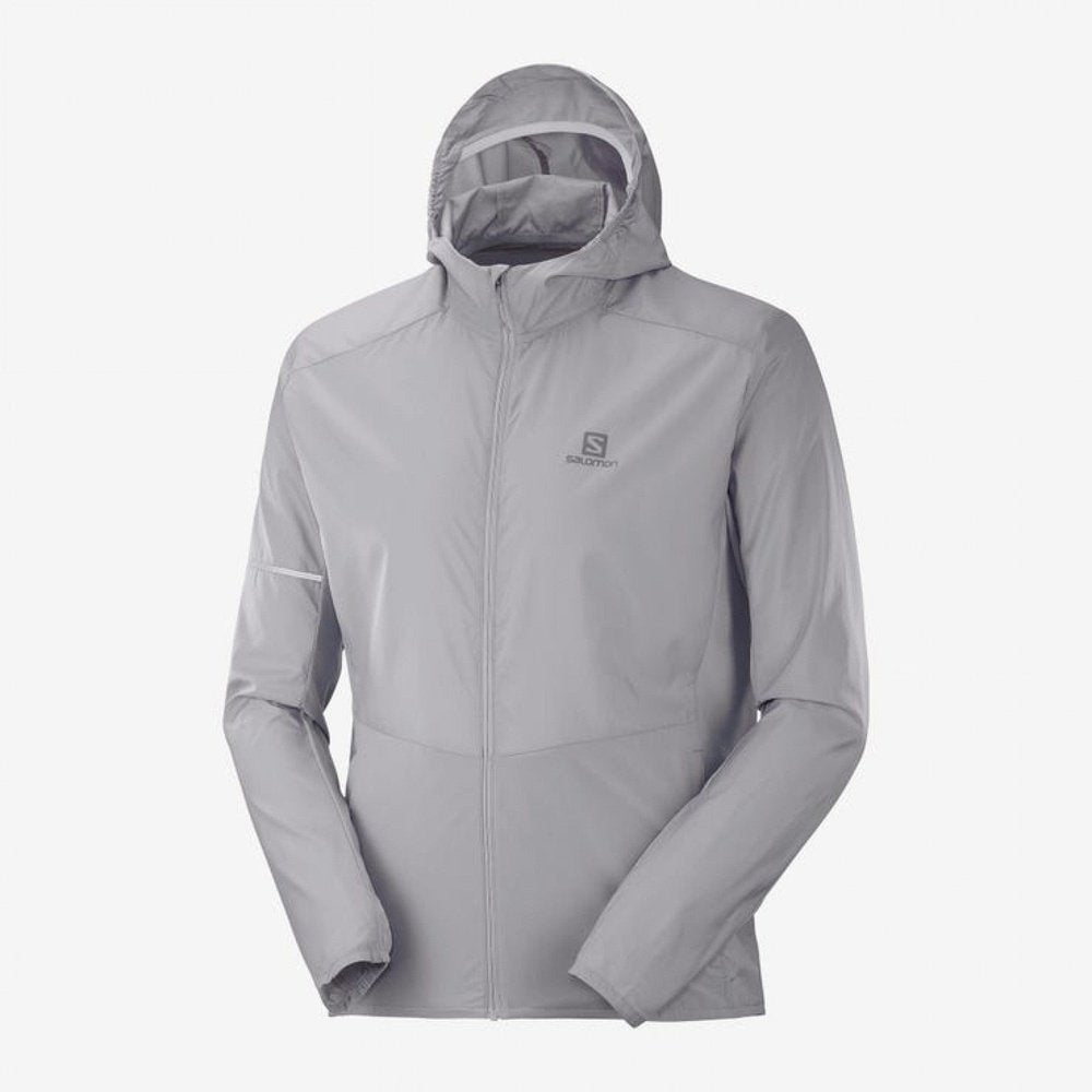 Salomon Agile FZ Hoodie Mens Wind Jacket
