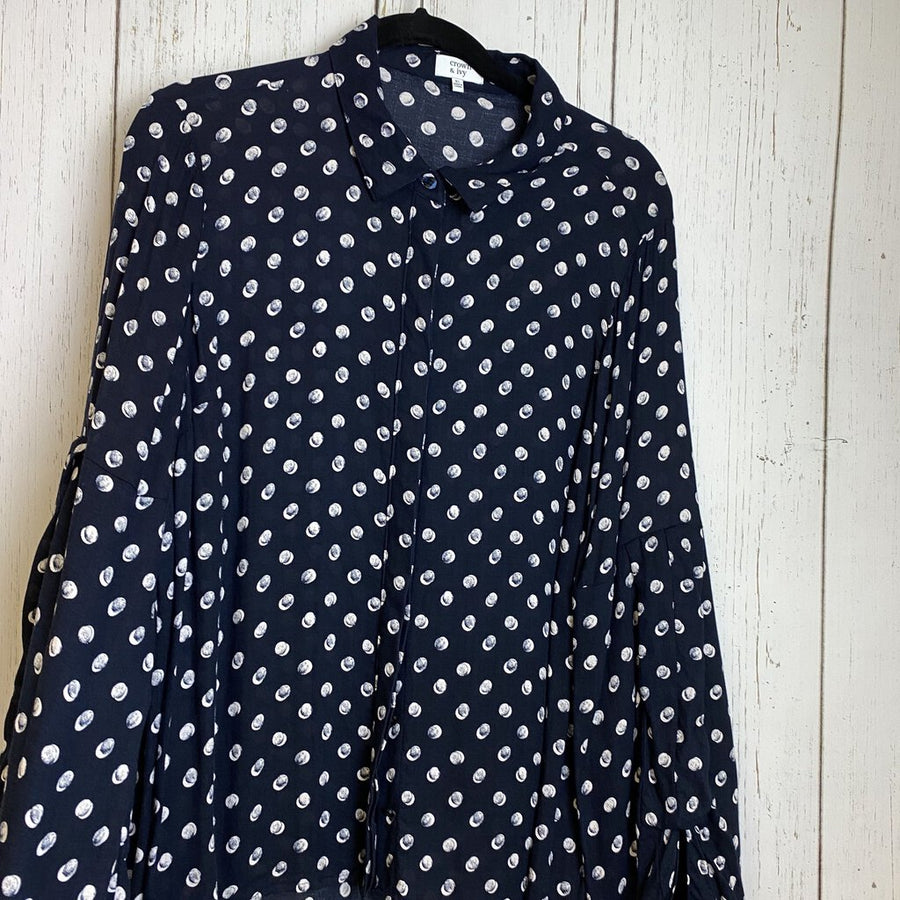 Crown & Ivy Blouses Navy XL