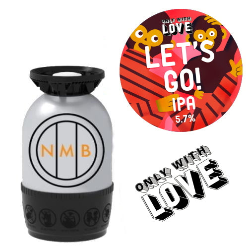Only With Love - Let's Go! - IPA 30 Litre Polykeg