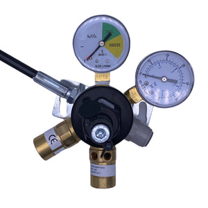 Mixed gas regulator beer valve