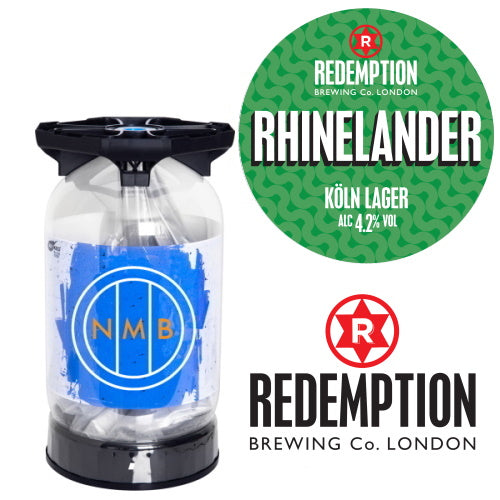Redemption brewing co - Rhinelander lager keykeg