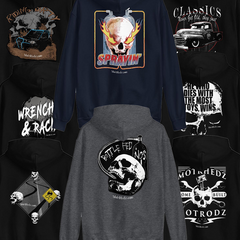 hoodies for drag racers and bikers from motrhedz
