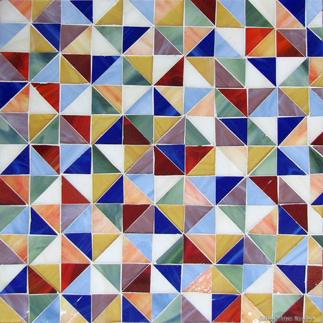 Custom Tile Pattern: 1-inch Triangles