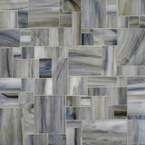 Custom Tile Pattern: Block Art (Calacatta Glass)