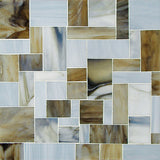 Custom Tile Pattern: Block Art (Chocolate & Grey)
