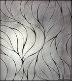 Custom Tile Pattern: Matte Waves