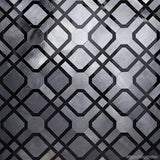 Custom Tile Pattern: Parquet in Midnight Black and Gun Metal