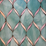 Custom Tile Pattern: Ribbons in Green & Pink