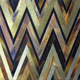 Custom Tile Pattern: ZigZag (Chocolate Bone Distressed Gold)