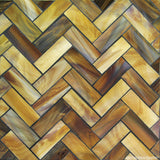 Custom Tile Pattern: Chocolate Herringbone Blend