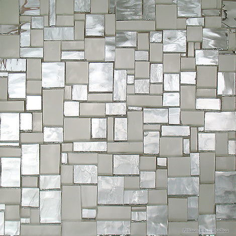 Custom Tile Pattern: BlockArt Frosted and Ripple Mirror