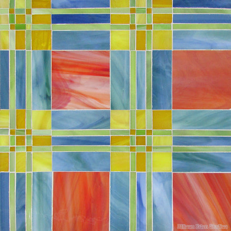 Custom Tile Pattern: Funky Plaid