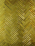 Custom Tile Pattern: Gold Double Herringbone