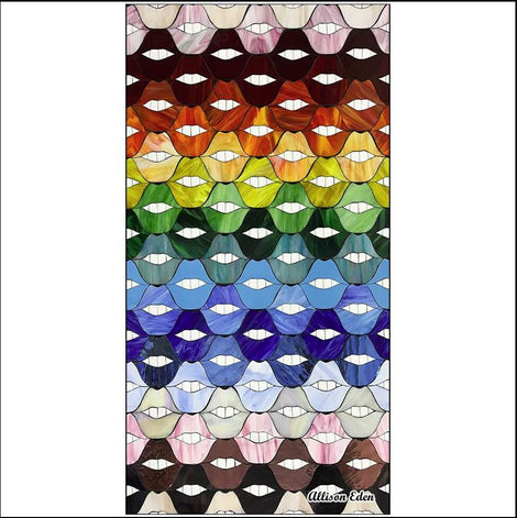 Rainbow Lips Deluxe- Plush Double Sided Print Towel (71