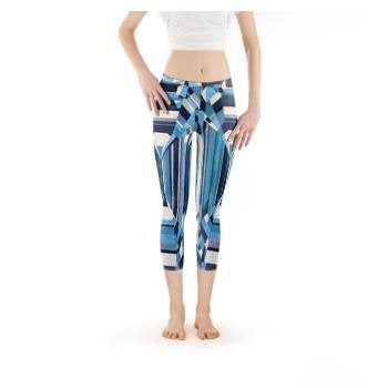 Blue Diamond Capri Leggings