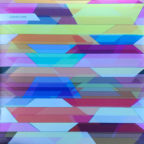 Prismatic Colorful Lined Wallpaper