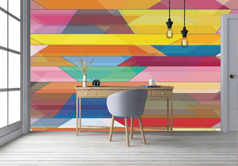 Colorful Lined Wallpaper