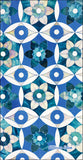 Deep Blue Moroccan Pattern Large Towel