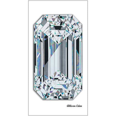 Emerald Cut Diamond Large Towel