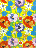 Custom Tile Pattern: Floral Motif Over Yellow