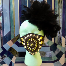 Kaleidoscope in Green Fashion Mask