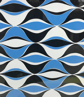 Custom Tile Pattern: Mod Wave Pattern