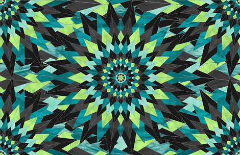 Psychedelic Kaleidoscope Medallion Fabric