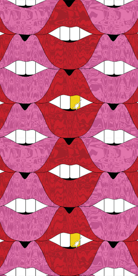 Pucker Up Urban Lips Fabric