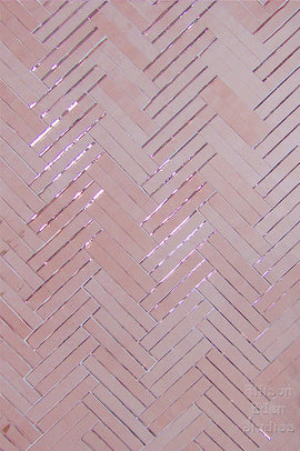 Custom Tile Pattern: Rose Gold Double Herringbone