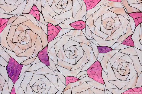 Custom Tile Pattern: Roses