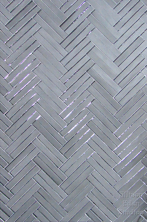Custom Tile Pattern: Smoke Mirror Double Herringbone