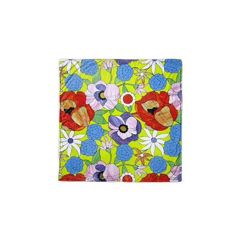 "Spring Meadow Floral Fleece Throw (57"" X 57"")"