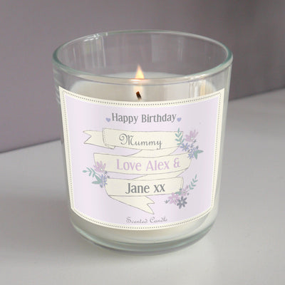 Personalised Garden Bloom Scented Jar Candle