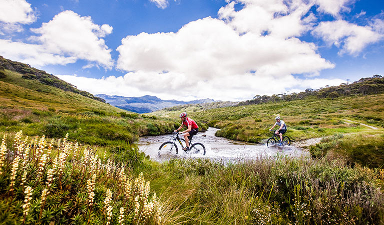 Cycling in Kosciuszko National Park