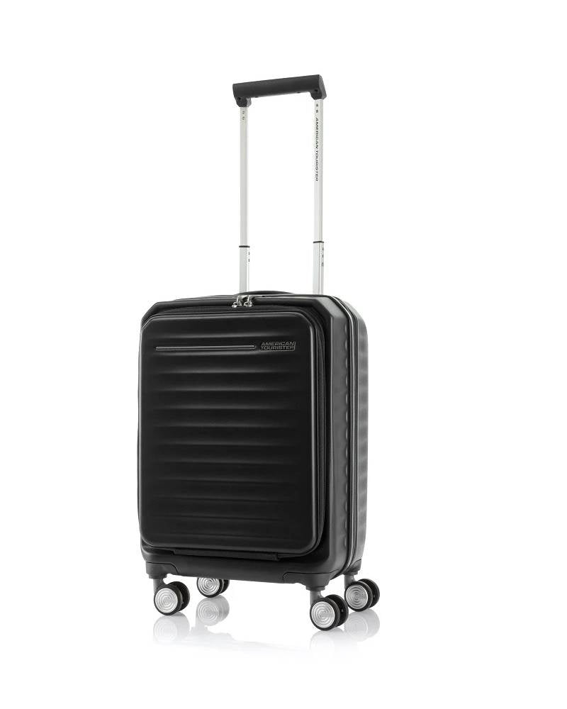 American Tourister - Frontec Expandable 54cm Cabin 4 Wheel Hard Suitcase
