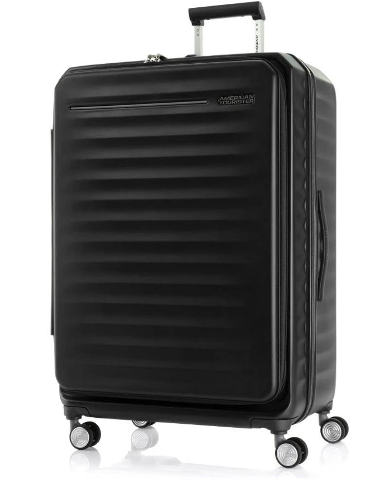 American Tourister - Frontec Expandable 79cm Large 4 Wheel Hard Suitcase