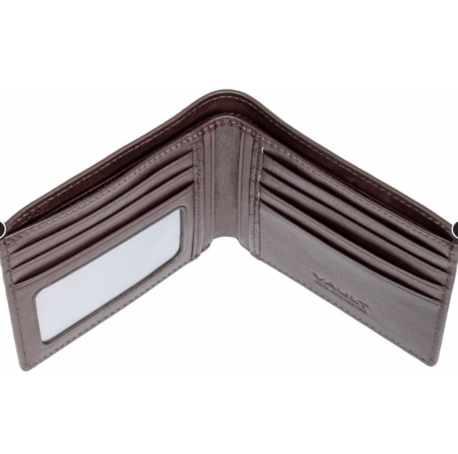 Vault RFID Kentucky Leather Wallet - Brown