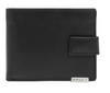 Vault RFID Men's Leather Tab and Zip Coin Wallet