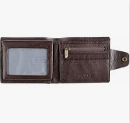 Vault RFID Kentucky Brown Leather Wallet with Top Flap and Tab