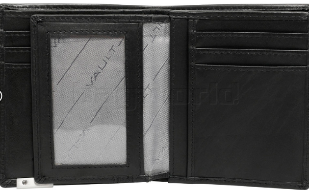 Vault RFID Men's Leather Vertical Wallet