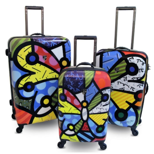Heys Britto Butterfly Suitcase Set of 3