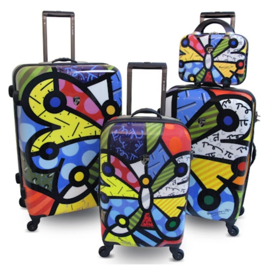 Heys Britto Butterfly Suitcase Set of 4