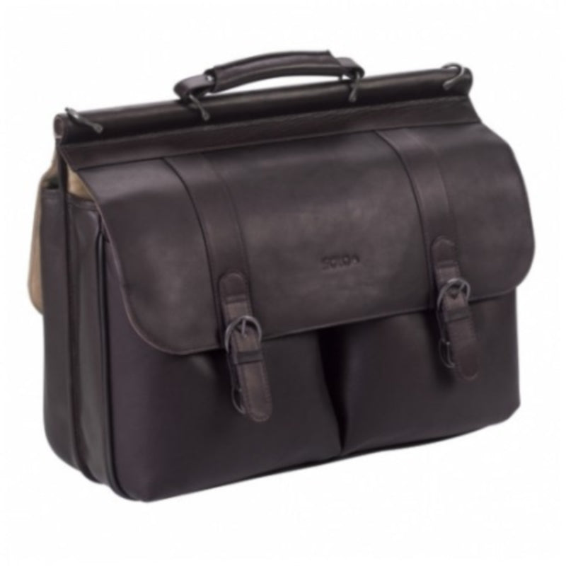 "Solo Classic Leather 16"" Laptop Portfolio"