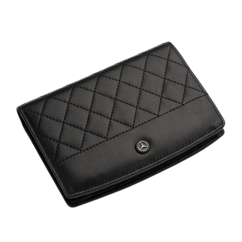 Mercedes Benz Tri-fold Travel Wallet - Large (Diamond pattern)
