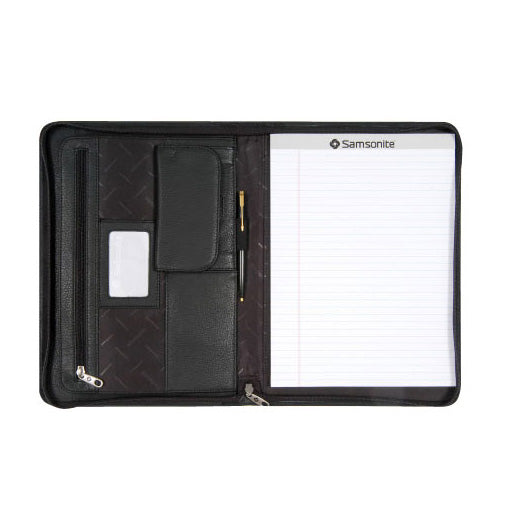 Samsonite (SCM162) Leather A4 Zip Compendium