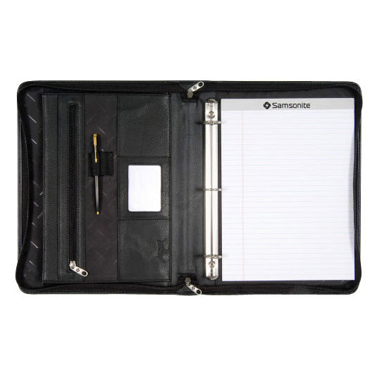 Samsonite (SCM163) Leather A4 Zip Binder Compendium